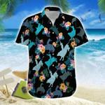 Tropical Bull Riding Hawaiian Shirt   For Men & Women   Adult   HW6671