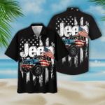 Jeep and Flag Hawaiian Shirt | For Men & Women | Adult | HW7210