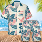 U.S Army Veteran Hawaiian Shirt Set | Unisex | HS1116
