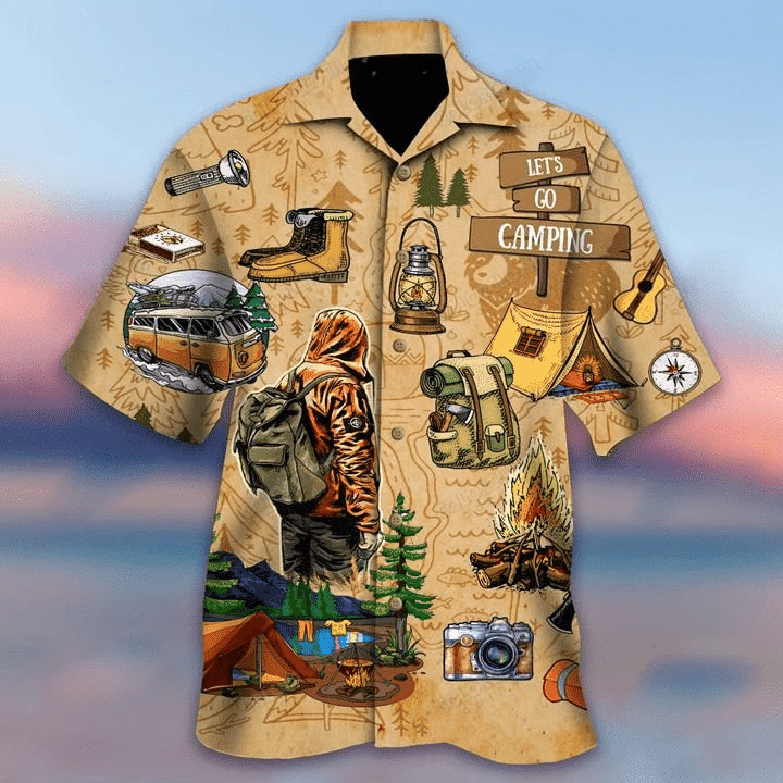 Go Camping Hawaiian Shirt | For Men & Women | Adult | HW6733