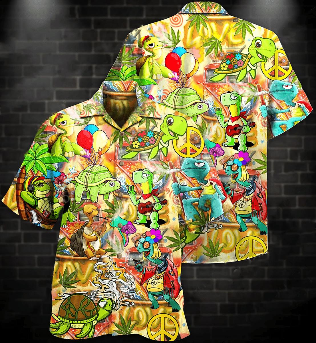 Hippie Turtles Hawaiian Shirt | For Men & Women | Adult | HW7102