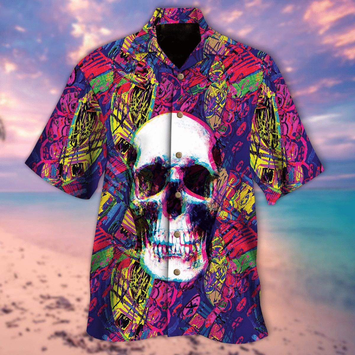 Skull Hawaiian Shirt   For Men & Women   Adult   HW6605