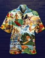 Surfing Hawaiian Shirt   For Men & Women   Adult   HW6392