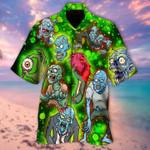 Zombies Eat Brains Hawaiian Shirt   For Men & Women   Adult   HW6221