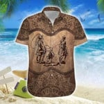 Brown Mandala Hawaiian Shirt   For Men & Women   Adult   HW7413
