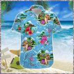 Flamingo Surfing Hawaiian Shirt   For Men & Women   Adult   HW6987