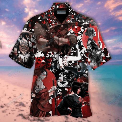 Samurai Girl Hawaiian Shirt | For Men & Women | Adult | HW6325