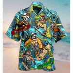 Skull Loves Skate Hawaiian Shirt | For Men & Women | Adult | HW7652