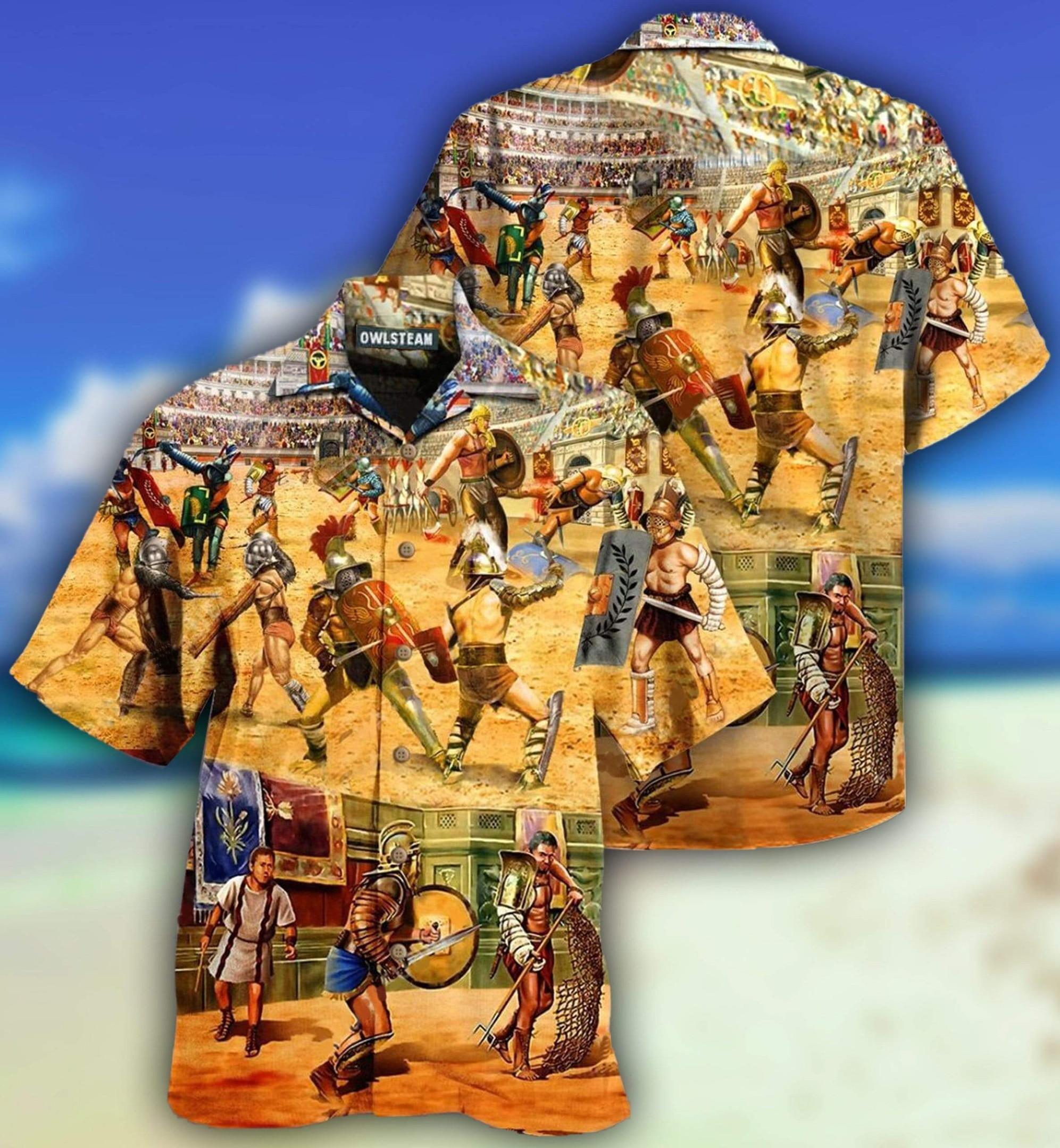 Rome Be A Warrior Hawaiian Shirt   For Men & Women   Adult   HW7629