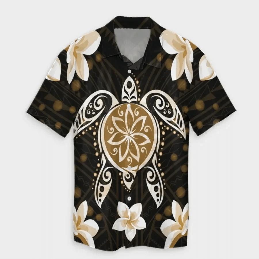 Gold Turtle Hawaiian Shirt | For Men & Women | Adult | HW6792