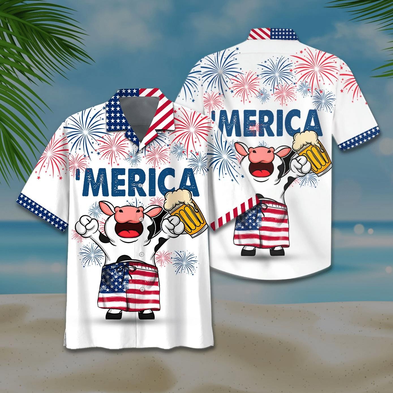 Cow Hawaiian Shirt | For Men & Women | Adult | HW6873