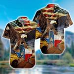 The Eagle with Texas Flag Hawaiian Shirt   For Men & Women   Adult   HW7418