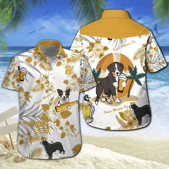 Bernese Mountain Dog Beer Hawaiian Shirt   For Men & Women   Adult   HW6480
