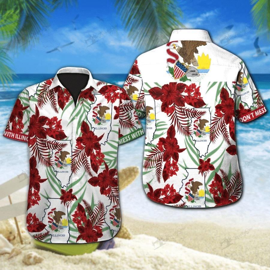 Illinois Hawaiian Shirt | For Men & Women | Adult | HW7452