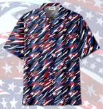 4th of July US Flag Camo Patriotism Hawaiian Shirt   For Men & Women   Adult   HW6700