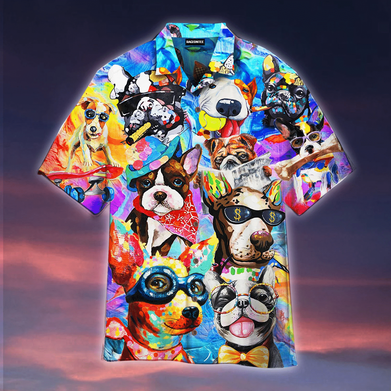 Funny Dogs Hawaiian Shirt   For Men & Women   Adult   HW4680