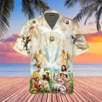 Jesus Are Playing With Children Hawaiian Shirt   For Men & Women   Adult   WT1501