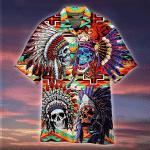 Native Skull Hawaiian Shirt | For Men & Women | Adult | HW4787