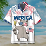 America Raccoon Beer Hawaiian Shirt   For Men & Women   Adult   HW7118