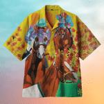 Horserace Hawaiian Shirt   For Men & Women   Adult   HW6714