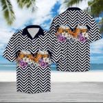 Beer Flower Zigzag Hawaiian Shirt | For Men & Women | Adult | HW6370