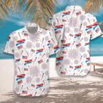 4th Of July US Pattern Hawaiian Shirt   For Men & Women   Adult   HW7584
