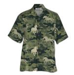 Tropical Summer Aloha Hawaiian Shirt Horse QL-NQ07