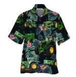 Tropical Summer Aloha Hawaiian Shirt Green Tractor QL-NQ08