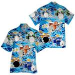 Tropical Summer Aloha Hawaiian Shirt Drum HD-HG21