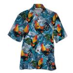 Tropical Summer Aloha Hawaiian Shirt Rooster QL-HG1545