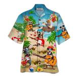 Tropical Summer Aloha Hawaiian Shirt Guitar Animal HD-NQ13