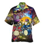 Tropical Summer Aloha Hawaiian Shirt Drum Skull HD-NQ11