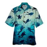 Tropical Summer Aloha Hawaiian Shirt Scuba Diving QL-HG1541