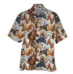 Tropical Summer Aloha Hawaiian Shirt Horse QL-HG1536