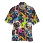 Tropical Summer Aloha Hawaiian Shirt Pugs QL-HG1540
