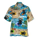 Tropical Summer Aloha Hawaiian Shirt Cat HD-NQ06
