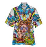 Tropical Summer Aloha Hawaiian Shirt Guitar Hippie HD-HG17