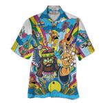 Tropical Summer Aloha Hawaiian Shirt Guitar Hippie HD-HG18