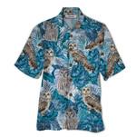 Tropical Summer Aloha Hawaiian Shirt Owl QL-HG1542