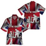 Tropical Summer Aloha Hawaiian Shirt Lest We Forget QL-TH1280