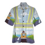 Tropical Summer Aloha Hawaiian Shirt Lineman HD-LC15