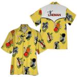 Tropical Summer Aloha Hawaiian Shirt Lineman HD-LC14