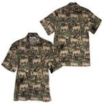 Tropical Summer Aloha Hawaiian Shirt Deer QL-HG1496