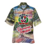 Tropical Summer Aloha Hawaiian Shirt Dominican Republic QL-LC03