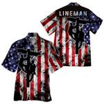 Tropical Summer Aloha Hawaiian Shirt Lineman HD-HG10