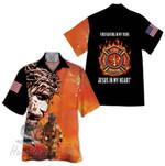 Tropical Summer Aloha Hawaiian Shirt Firefighter HH-DD81