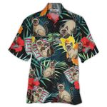 Tropical Summer Aloha Hawaiian Shirt Siamese Cat HD-HG02