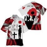 Tropical Summer Aloha Hawaiian Shirt Canada Veteran HH-HG289