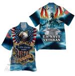 Tropical Summer Aloha Hawaiian Shirt US Navy Veteran HH-DD67