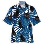 Tropical Summer Aloha Hawaiian Shirt Black Cats HH-DD64